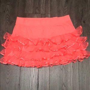 Justice coral pink ruffle tutu